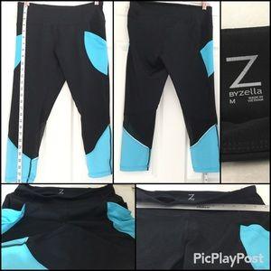 Zella Capri Black & Turquoise with Mesh. SZ.M